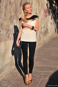 Mohito by Meri Wild black and gold zara gold shoes