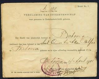 Beginilah Wujud KTP Pada Zaman Penjajah Belanda