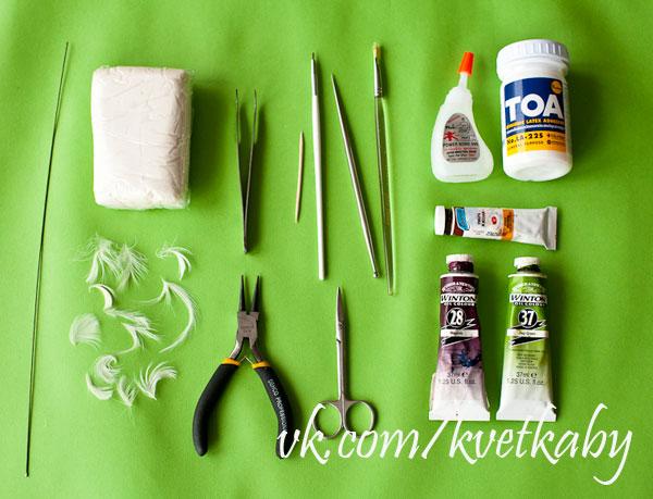 мастер класс одуванчик полимерная глина