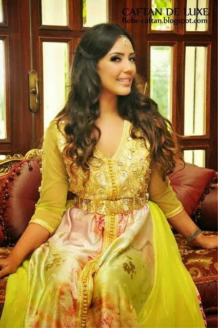 robe-marocaine-jaune-perle-2014