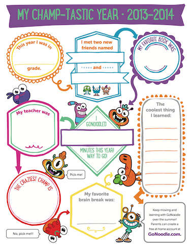 http://inspiration.gonoodle.com/2014/04/bring-on-summer-with-gonoodle-freebies/