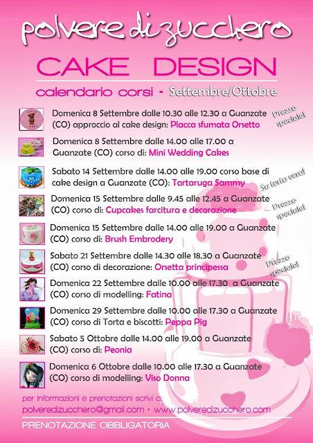 calendario corsi cake design: decorazione torte, biscotti, cupcakes, fiori di zucchero, modelling, ghiaccia reale e tanto altro