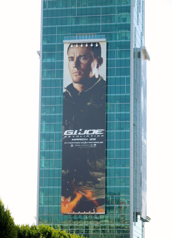 Giant G.I. Joe: Retaliation Duke billboard