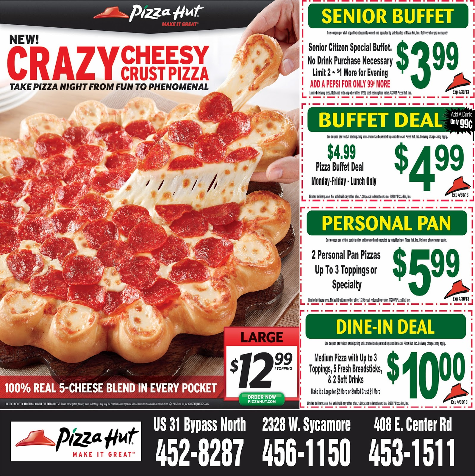 Pizza hut coupons bankstown