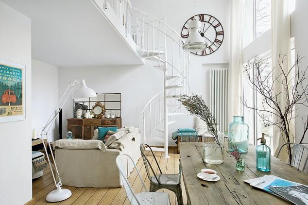 Virlova interiorismo home un tico en blanco y turquesa - Casas con estilo vintage ...