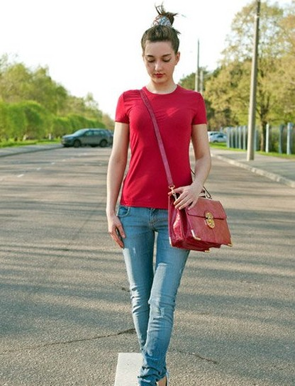 The Embodiment of The Perfect Fashion Woman: Short Sleeve T-shirt ...