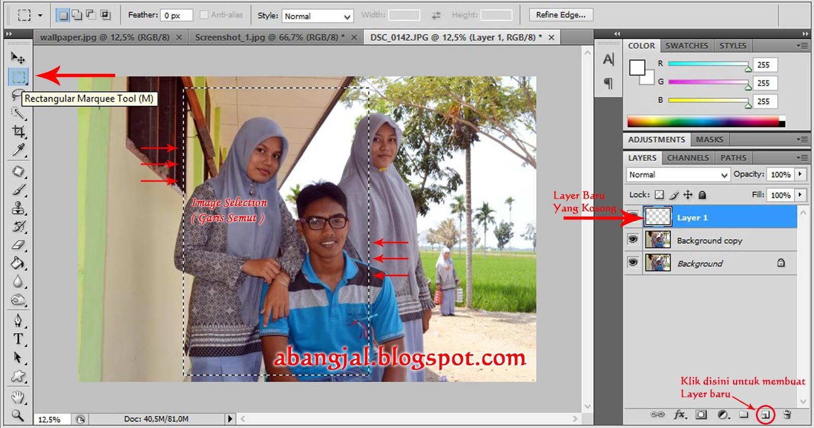 Cara merubah warna background pas foto dengan photoshop cs4 97