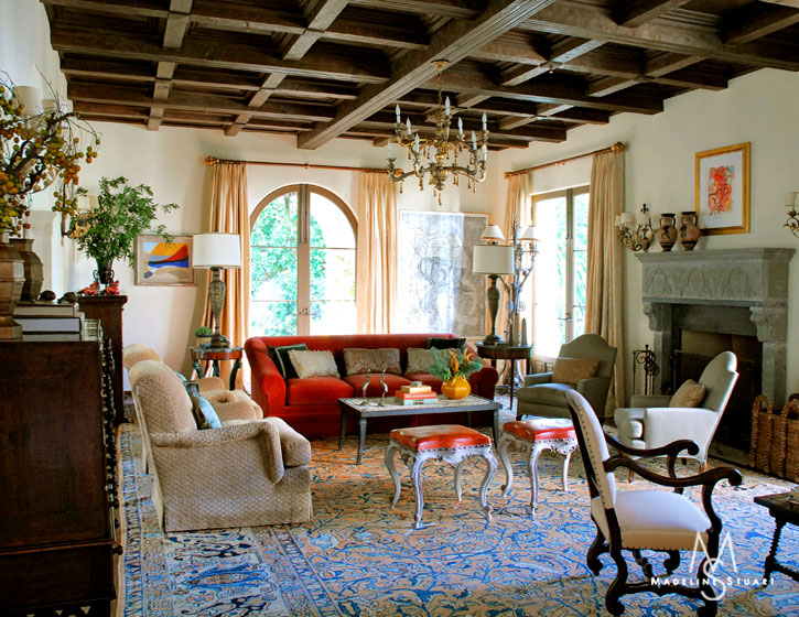 Spanish Colonial interiors can be quite elaborate or relatively simple ...