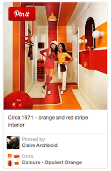 Orange Themed Pinterest Board