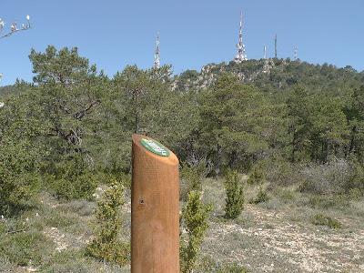 Camí a les antenes de la Mussara