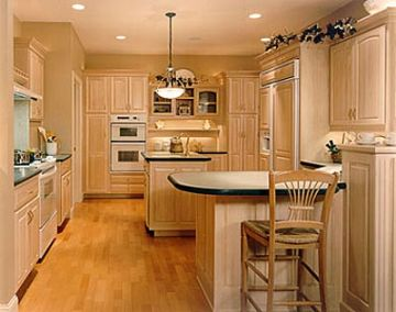 Light brown kitchen cabinets pictures best kitchen places for Kitchen color ideas with light brown cabinets