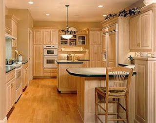 light brown kitchen cabinet