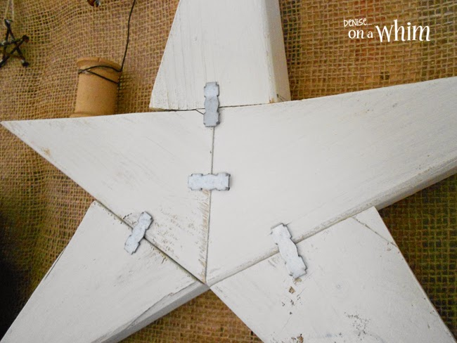 Wood Scraps and Metal Star | Denise on a Whim