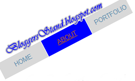 Rotate Style CSS3 Navigation Menu Bar for blogger