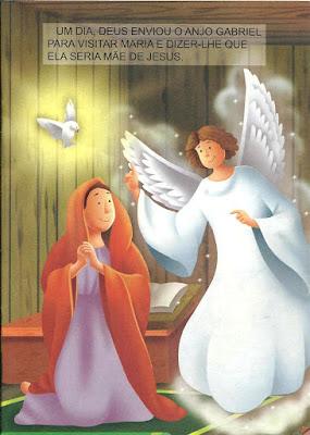 Maria e o anjo historia bíblica infantil