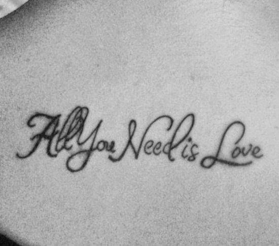 All You Need Is Love Tattoo