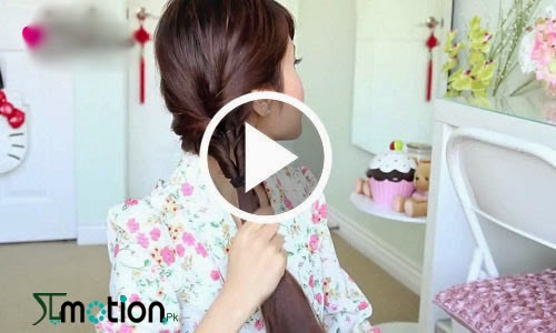 Tutorials To Ladder Braid Ponytail Hairstyle For Medium Long Hair In