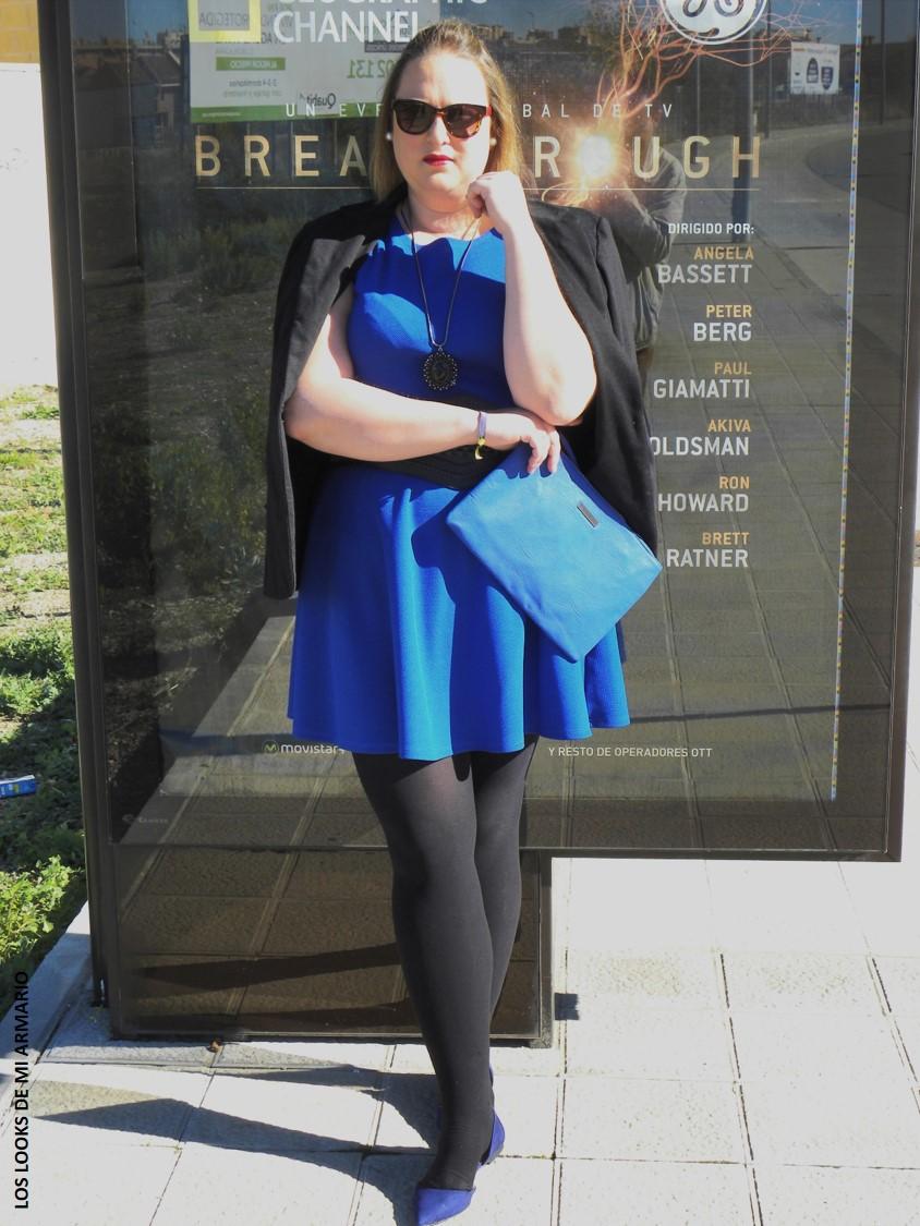 Look casual vestido azul