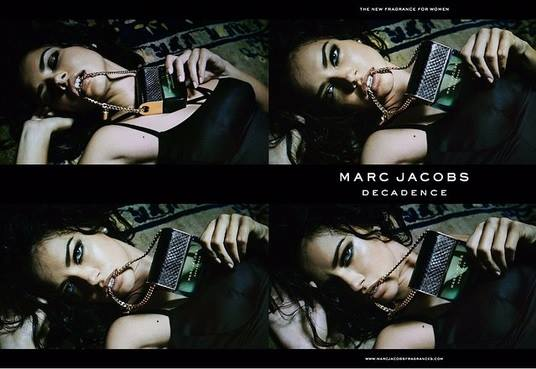 Adriana Lima sizzles for the Marc Jaobs Decadence Fragrance Campaign 2015