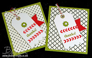 Stamp a Tag Cards by UK Stampin' Up! Demonstrator Bekka Prideaux - check her blog for lots of cute ideas