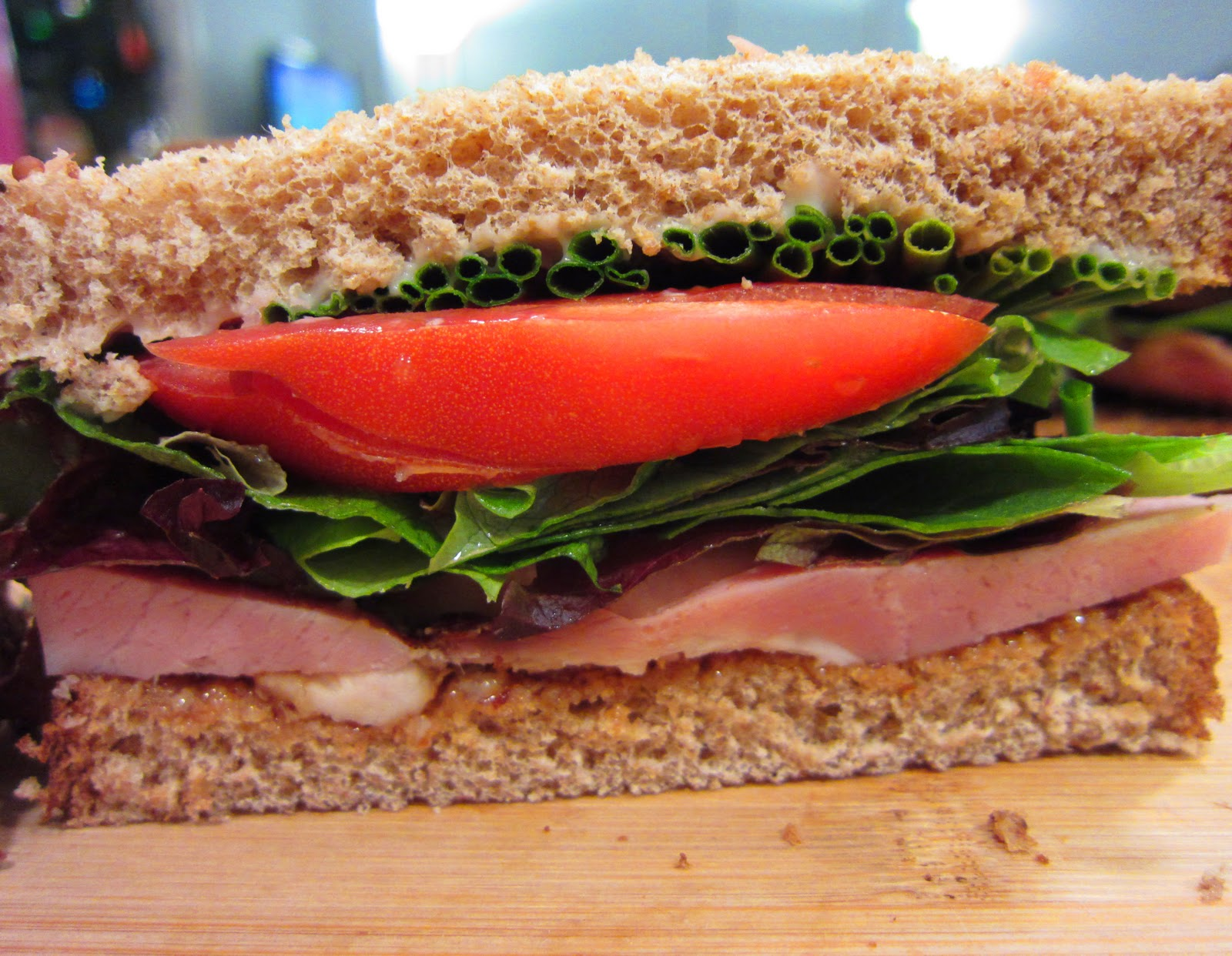 ham ham swiss caramelized onion and sauteed tomato open faced sandwich ...