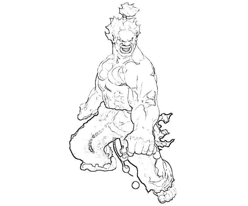 10-akuma-marvel-vs-capcom-akuma-characters-coloring-pages