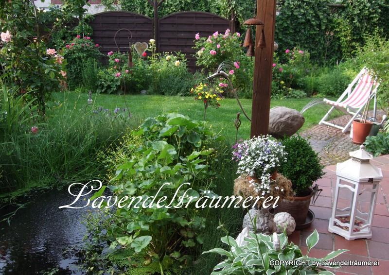 Kamin Garten : Lavendeltr?umerei einmal durch den rosengarten teil und neuer rosenbogen