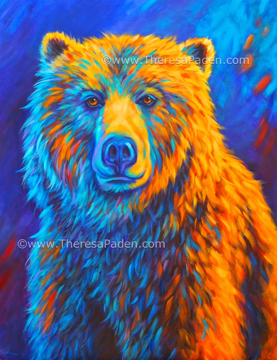 Large Bright Colorful Animal Art By Theresa Paden