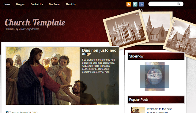 Religion Theme Blogger Template