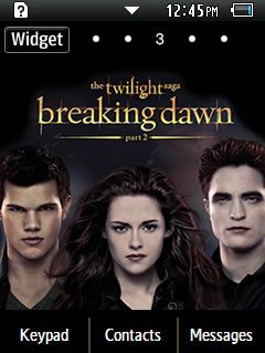 General Latest Twilight Movie Samsung Corby 2 Theme Wallpaper