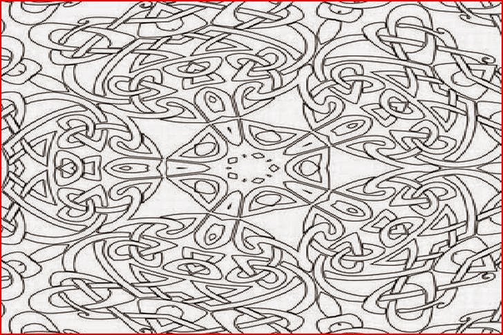 free abstract geometric coloring pages