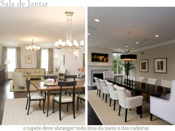 Tipo De Tapete Para Sala De Jantar ~  & Interiores DICAS importantes na escolha dos TAPETES da sua casa
