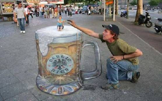 More 3D Chalk ArtDepth Sidewalk Art