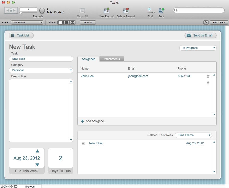 filemaker pro 12 templates - the mac office tasks filemaker pro 12 starter solution