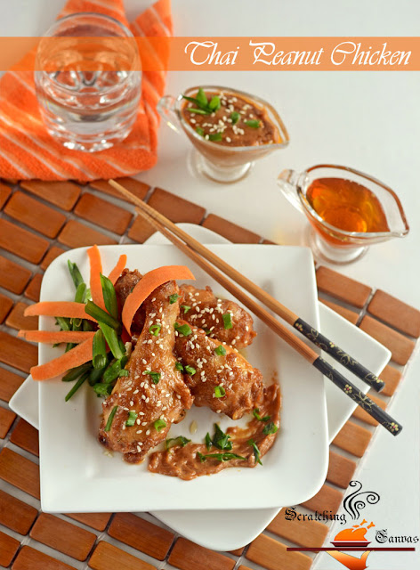 Baked Thai Peanut Sauce Chicken