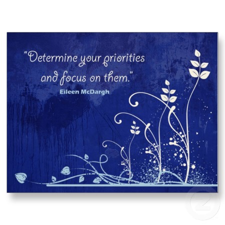 focus motivational quote postcard