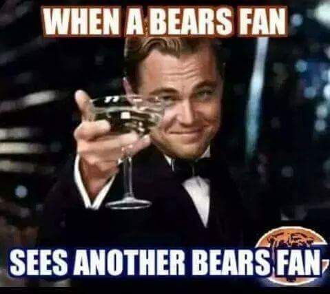 #bears #nfl #bears #bearsfans.- when a bears fan sees another bears fan
