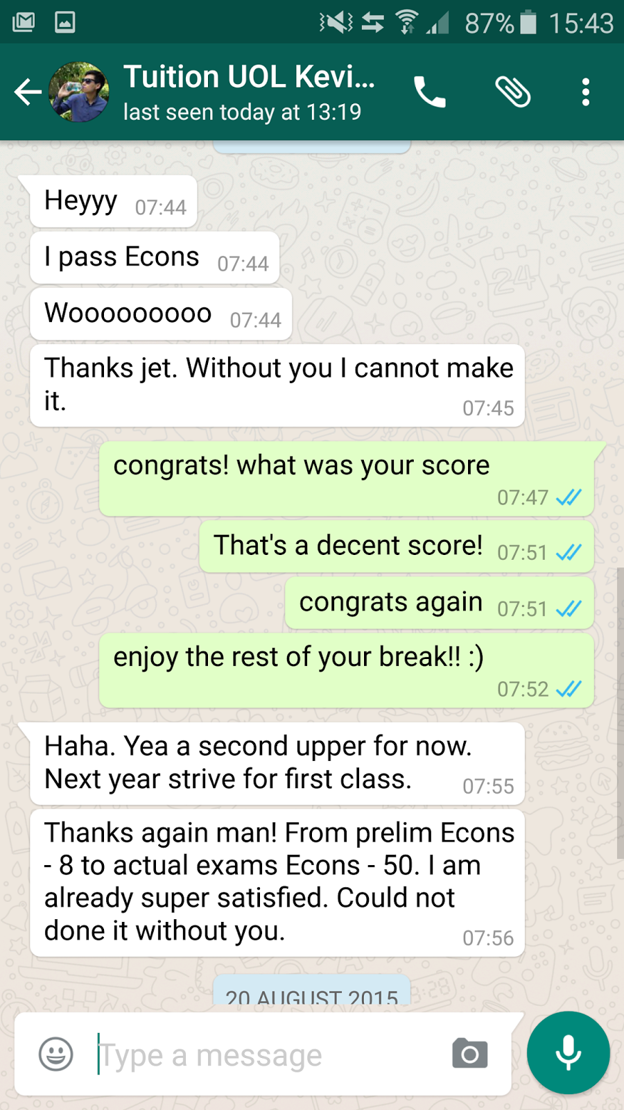 testimonials university pareto economics economics tuition during my preliminary exams at sim i knew right away that my current knowledge in econs was insufficient to get me a pass for my final examination