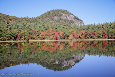 cathedral ledge, echo lake, north conway, fall foliage