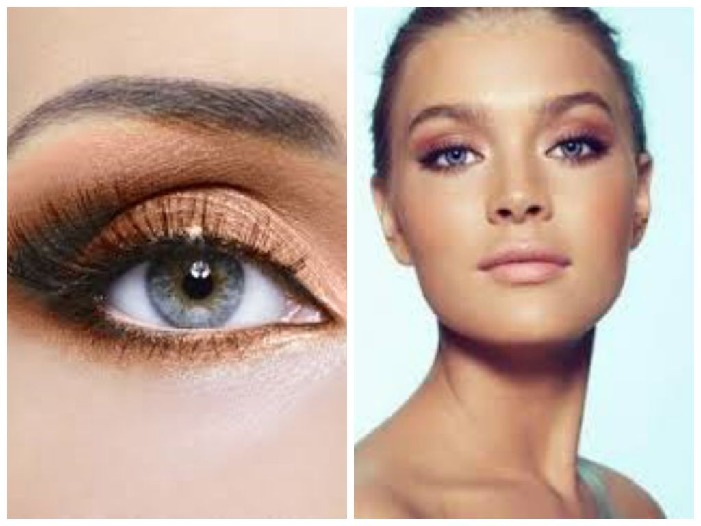 Natural makeup tips for blue eyes