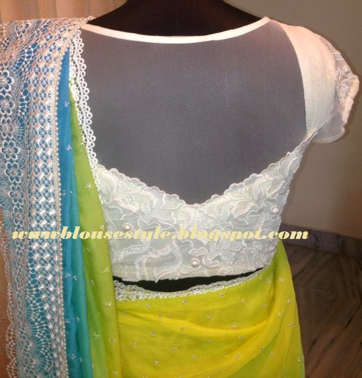 MODELS OF BLOUSE DESIGNS NEW TREND NET SAREE BLOUSE 2014