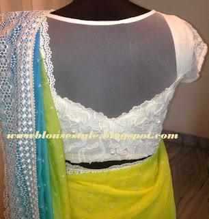white colour lace blouse
