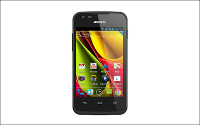 Vista frontal del ARCHOS 35 Carbon