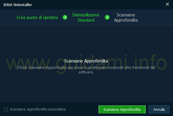 IObit Uninstaller 5 Scansione Approfondita