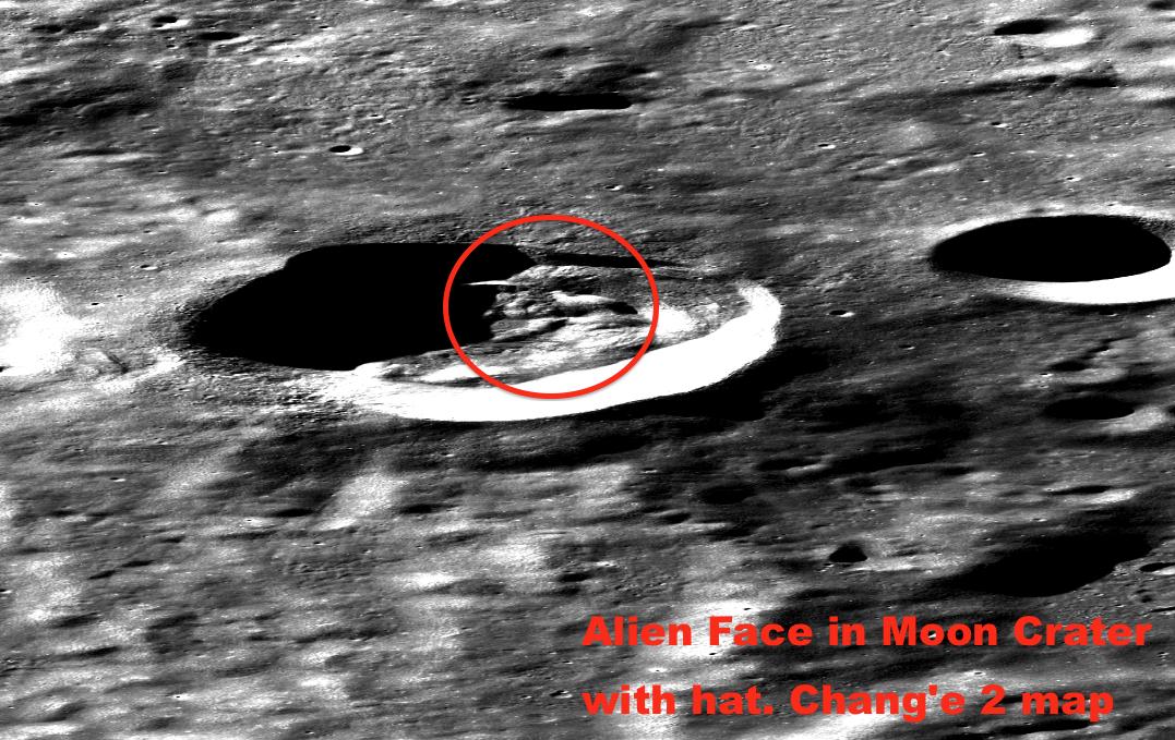 Moon alien moon base