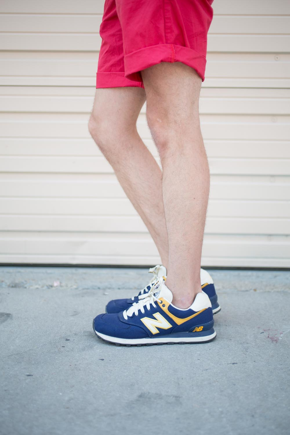 Navy and Yellow Mens New Balance Sneakers