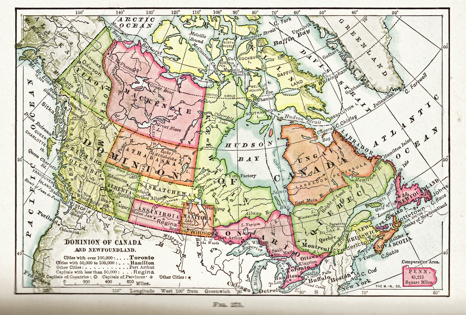 Online Maps Canada Th Century - Map of canad and the us