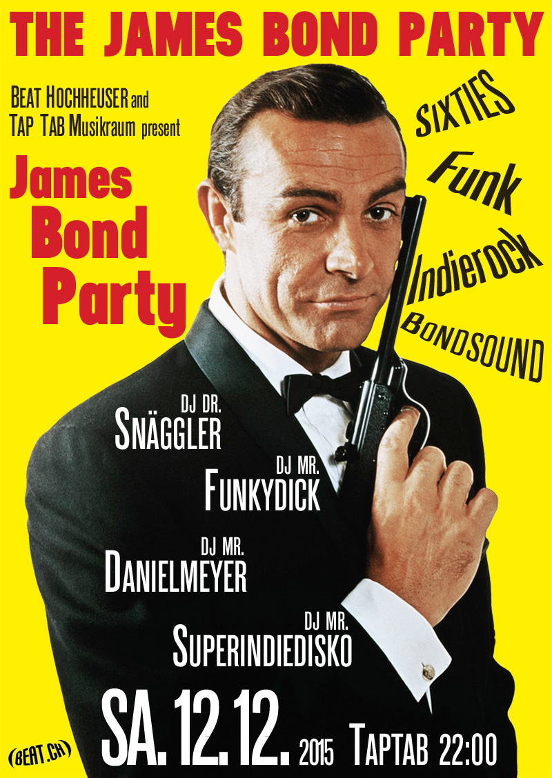 schaffhausen samstag ist james bond party im taptab schaffhausen. Black Bedroom Furniture Sets. Home Design Ideas