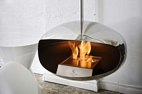 Minimal and Modern Cocoon Fireplace