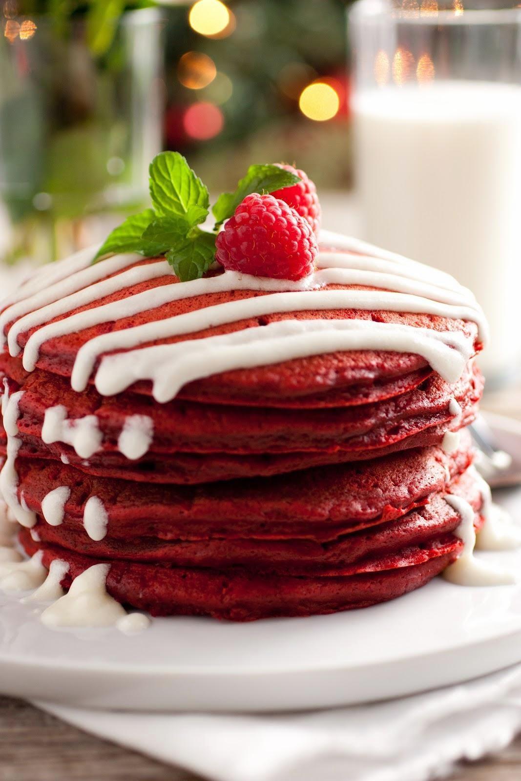receta de pancakes red velvet